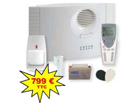 Kit Alarme radio Honeywell Domonial